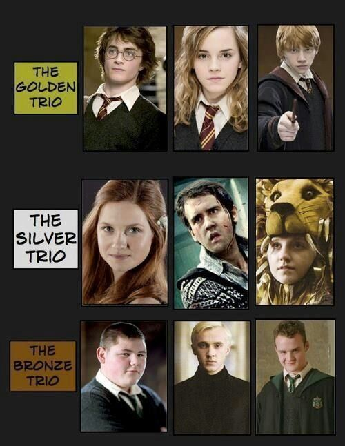 Image Result For Golden Trio And Silver Trio Harry Potter Feels Female Harry Potter Harry Potter Headcannons