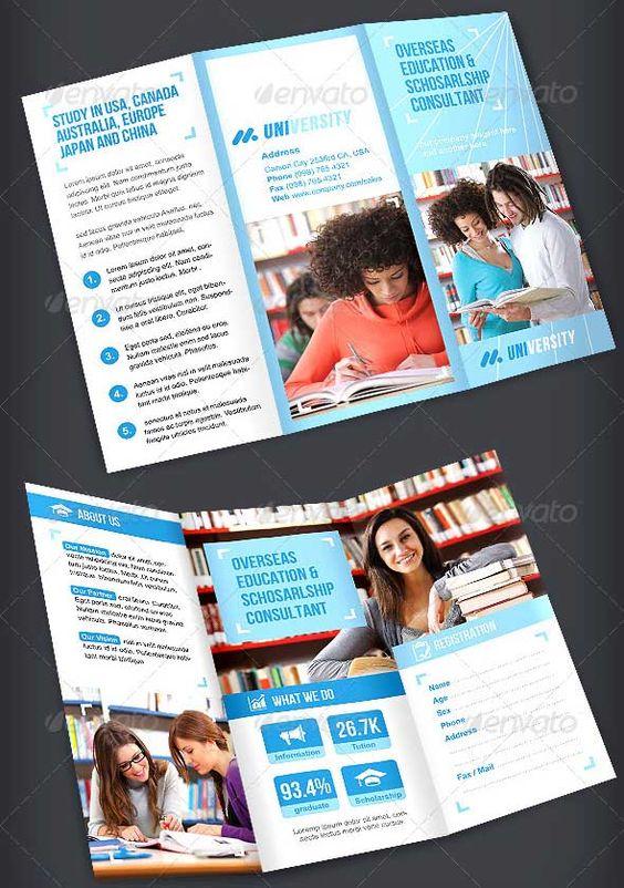 25 Free And Premium Education Brochure Templates – University Brochure Template