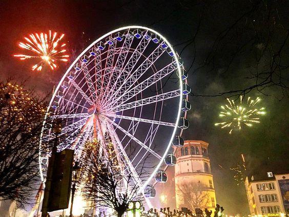 https://flic.kr/p/Chd2bQ | Düsseldorf New year's eve 2015/16 #2  @ig_nrw @ig_deutschland #germany #deutschland #düsseldorf #duesseldorf #fireworks #newyear2016 #NRW #ferriswheel