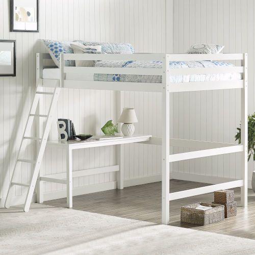 Hillsdale Furniture Caspian White Full Loft Bed 2179fl Bellacor In 2020 Loft Bed Loft Bed Frame Twin Loft Bed