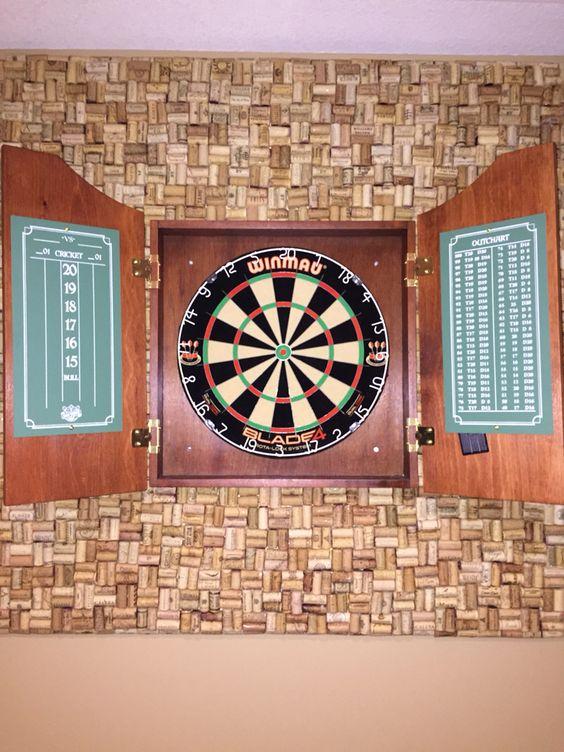 Wine Cork Dart Board Back Board Ideas For The House