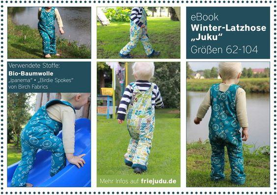 """Nähanleitungen Kind - eBook Winter-Latzhose """"Juku"""" - ein Designerstück von Friejudu bei DaWanda"""