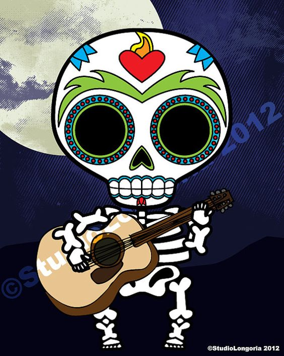 Dia De Los Muertos Boy Wall Art Print by StudioLongoria on Etsy, $12.99