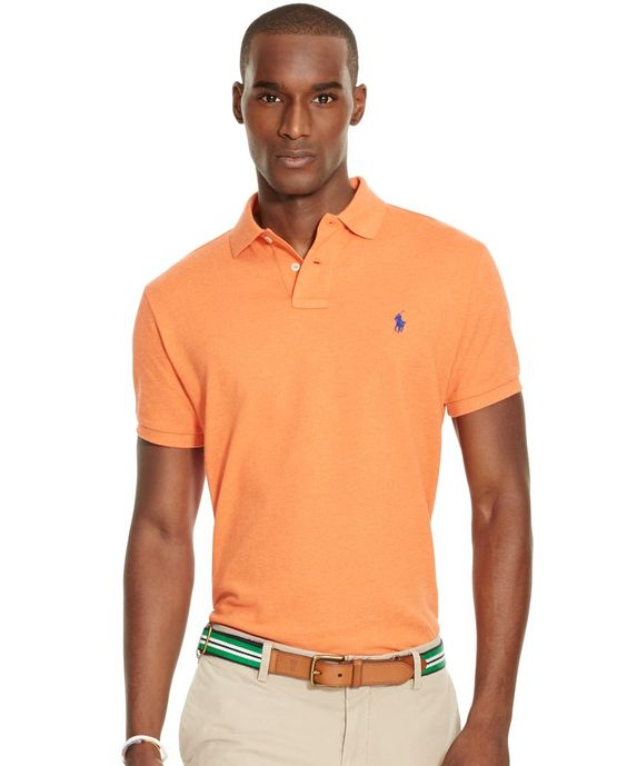 Polo Ralph Lauren Men\u0026#39;s Custom-Fit Mesh Polo Shirt