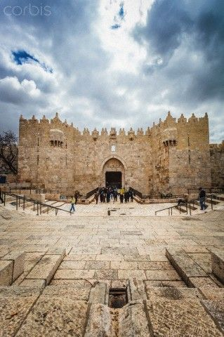 Damascus Gate, Jerusalem, Israel.  One of the most impressive of the gates around the Old City