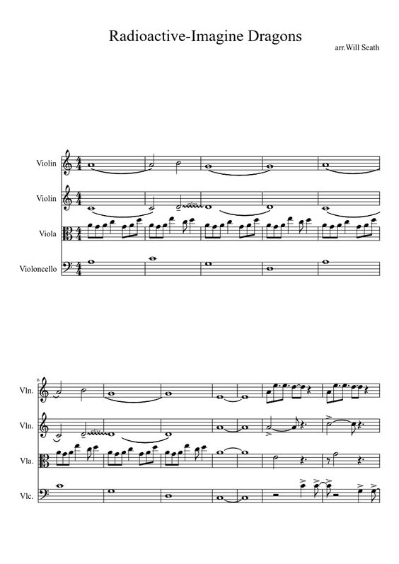 Radioactive-Imagine Dragons | MuseScore.com