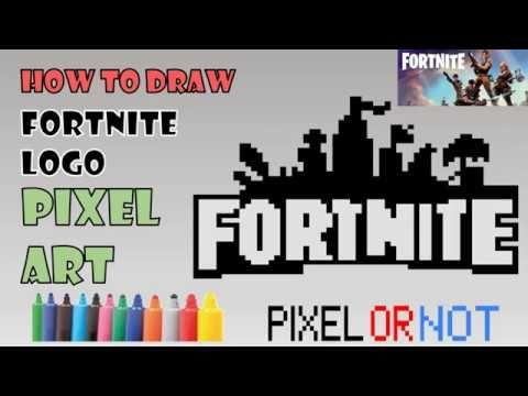 How To Draw Fortnite Logo Tuto Dessin Pixel Art Comment Dessiner Le Logo Fortnite Dessin Facile Perler Beads For Pixel Art Easy Drawings Drawing Tutorial
