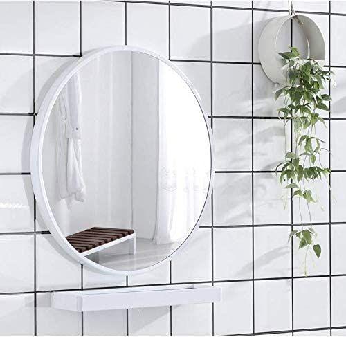 Amazon Com Ogcau White Round Mirrors For Wall Decor 20 Inch Circle Mirror White Metal Round Wall Mirror Mirror Wall Bathroom Bathroom Mirror Round Wall Mirror 20 inch round mirror