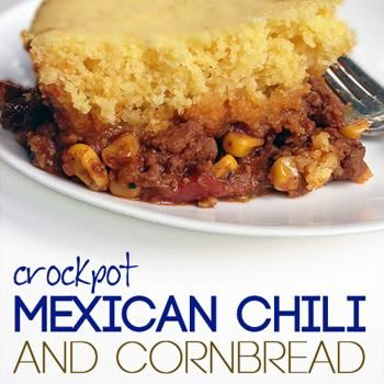 Crockpot Mexican chili with cornbread topping Recipe