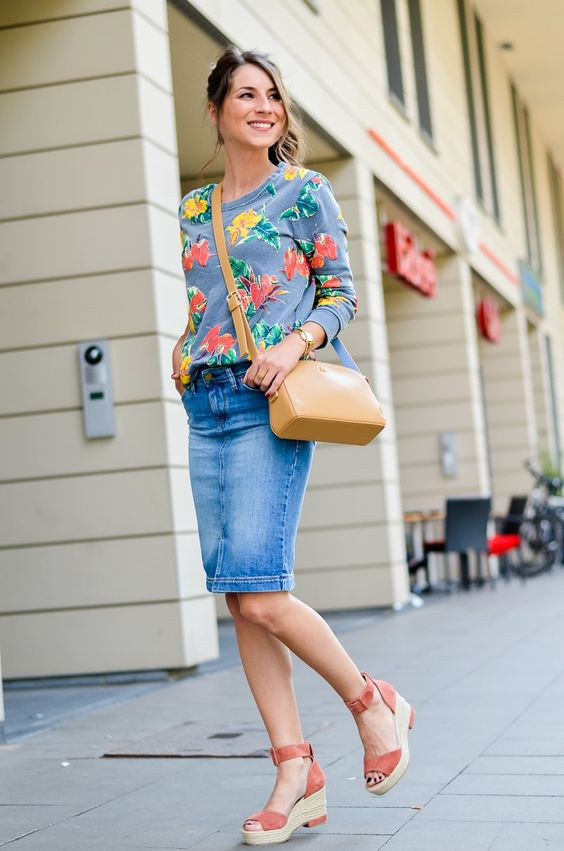 TROPICAL FEELINGS :: MIDI JEANSROCK & WEDGES