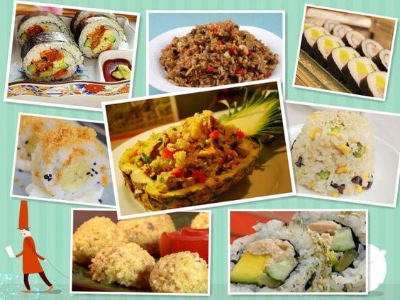 八款关于米饭的素食食谱。适合所有素食者。感恩分享。如果喜欢,欢迎大家分享出。   Giga Circle