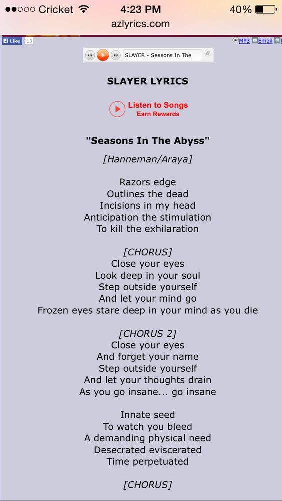 Lyric grand piano lyrics : Slayer: seasons in the abyss lyrics | Yesterday to tomorrow, out ...