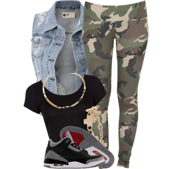 ♥ this outfit cute swag sneakers camo
