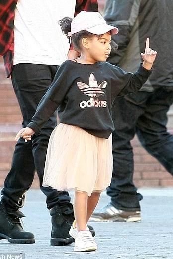 Blue Ivy Carter wearing Adidas Stan Smith Leather Sneakers:
