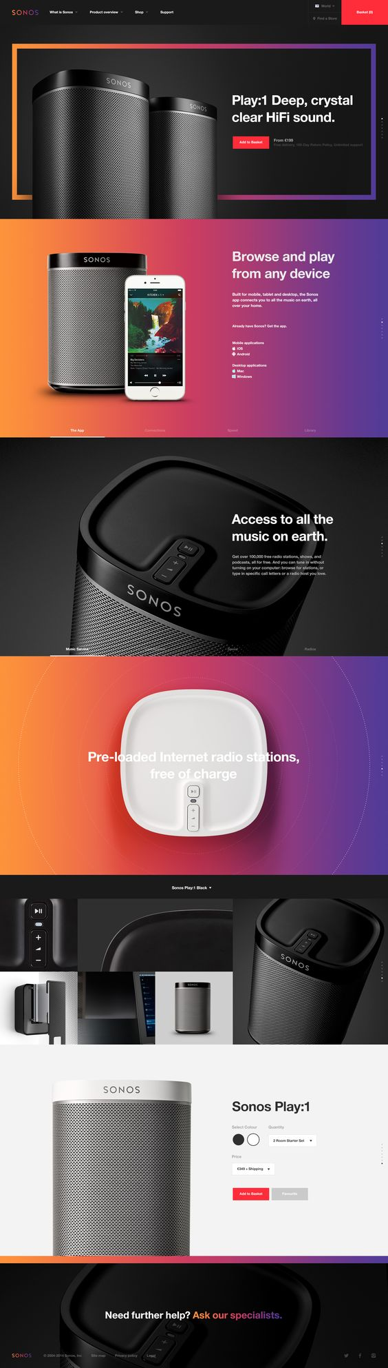 Sonos. The perfect player. (More design inspiration at www.aldenchong.com) #webdesign
