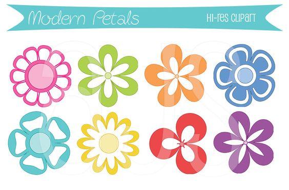Modern Petals Blog: Modern Petals Flower Clipart