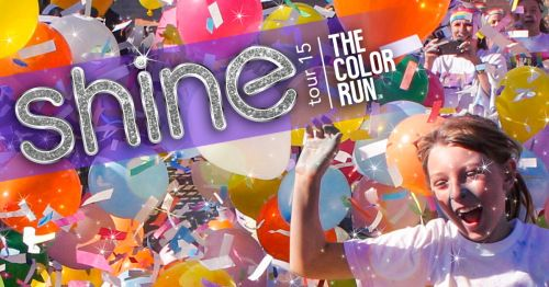 SHINE at the Color Run - LOVE getting chalk everywhere.  http://things2doinutah.com/color-run-coupon-salt-lake-city/