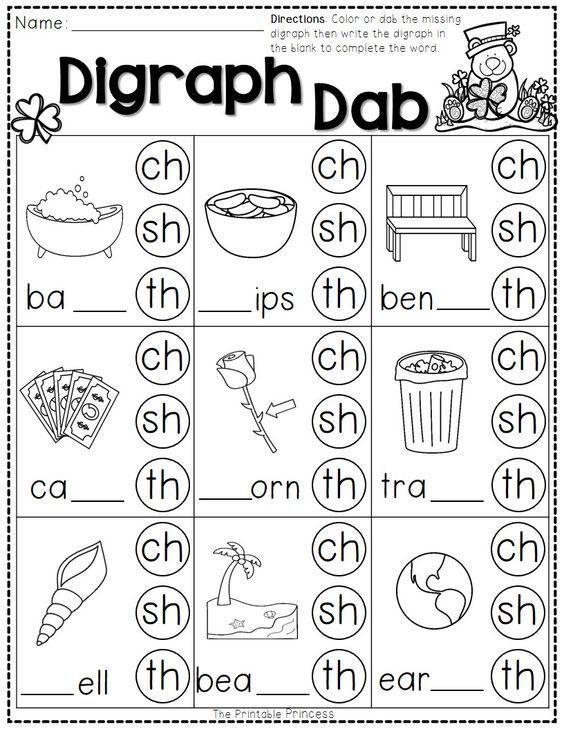 Freebie St Pactrick S Day Printable Packet Phonics Kindergarten Kindergarten Reading Teaching Phonics Blends and digraphs worksheets free