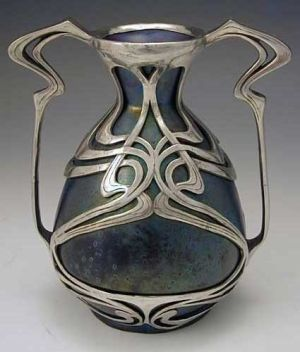 Zsolnay art nouveau vase, 1900... luv this! by Connie Kim: