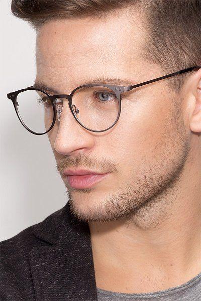 Thin Line Round Gunmetal Frame Glasses Em 2020 Oculos De Grau