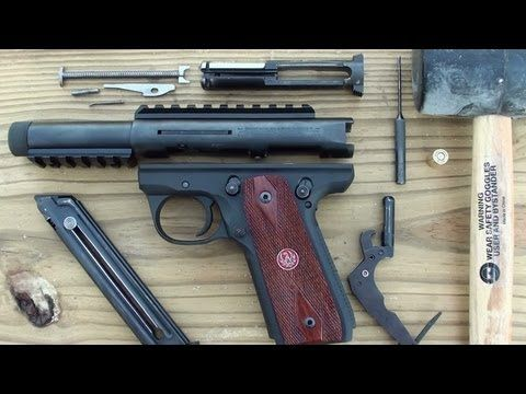 Ruger MK III 22 45 Fieldstrip ( disassemble & reassemble ) made easy - YouTube