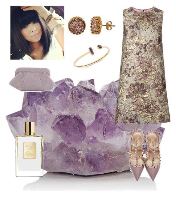 """purple stone"" by prettycarole ❤ liked on Polyvore featuring McCoy Design, Dolce&Gabbana, Lauren Merkin, Valentino, Michael Kors and Alanna Bess"