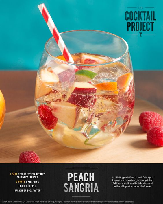 For a hit during warm-weather months, try a white sangria. Get the recipe at TheCocktailProject.com. DRINK RESPONSIBLY © 2016 Beam Suntory Inc., 510 Lake Cook Road, Deerfield, IL 60015. All Rights Reserved. All trademarks are property of their respective owners. Please drink responsibly.