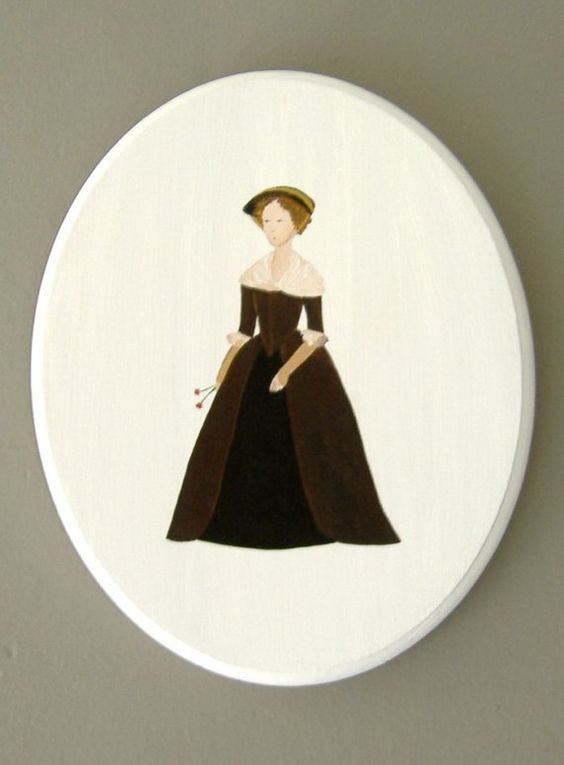 BRONTE WOMAN ART Original Acrylic on Wood Panel Painting by kirby, $115.00