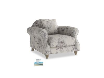 Sloucher Armchair in Thatch House Fabric