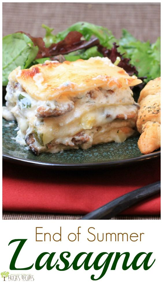 lasagna and more end of summer lasagna end of first day of summer ...