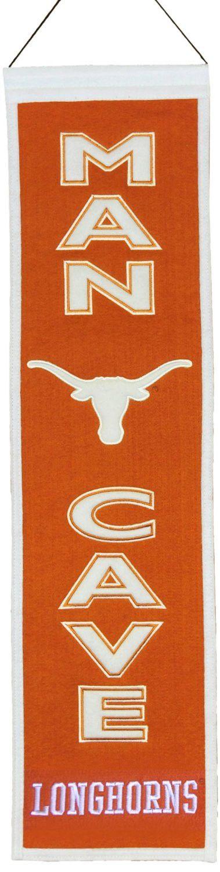 """Texas Longhorns Winning Streak Man Cave Vertical Wool Banner (8""""x32"""")"""