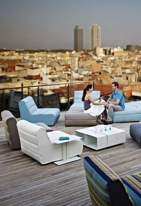 Turn your outdoor space into a contemporary lounge with the Nomad Seating Chair; plush, comfortable and available in a wide array of colors and designs.