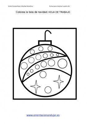 colorear bolas de navidad dejamos