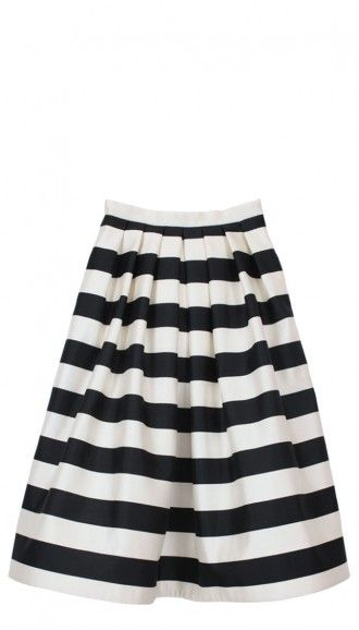 Black and white striped skirt with pockets – Cool novelties of ...