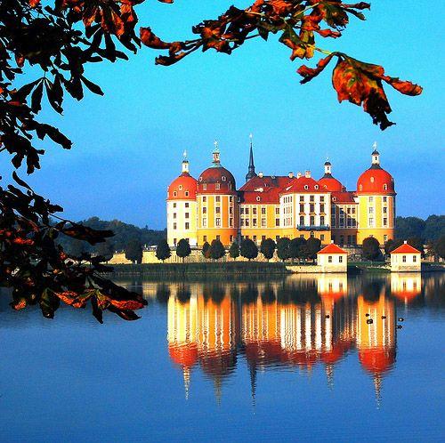 Moritzburg Castle, Germany... Gorgeous!  ***  Jagdschloss bei Dresden, barocker  Ausbau unter August dem Starken
