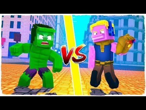 Armadura De Hulk Vs Armadura De Thanos Vuelve Batallas De Armaduras En Minecraft Minecraft Mods Minecraft Gaming Logos