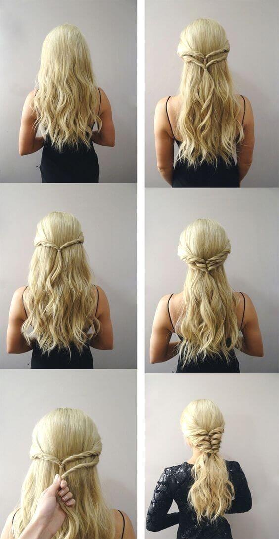 Medieval Hairstyles Step By Step Coiffures Etape Coiffure Coiffure Coiffures Etape Hairstyles Medi In 2020 Hair Styles Medieval Hairstyles Easy Hairstyles