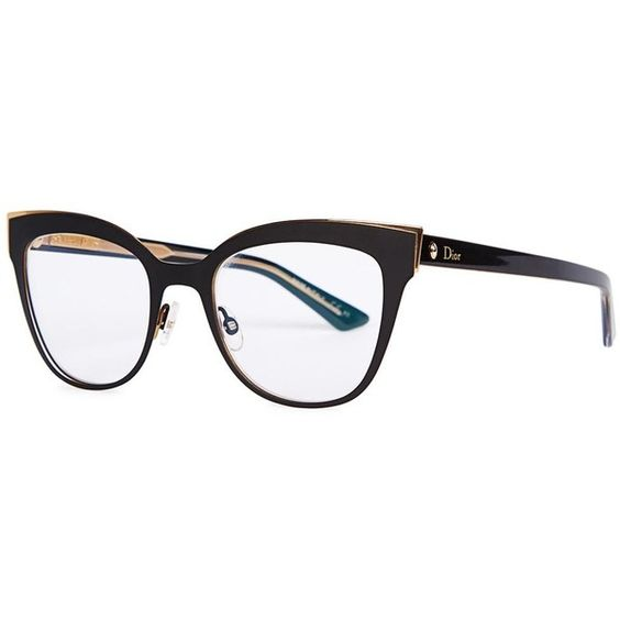 Dior Mens Eyeglass Frames : Womens Optical Christian Dior Montaigne 11 Black Optical ...