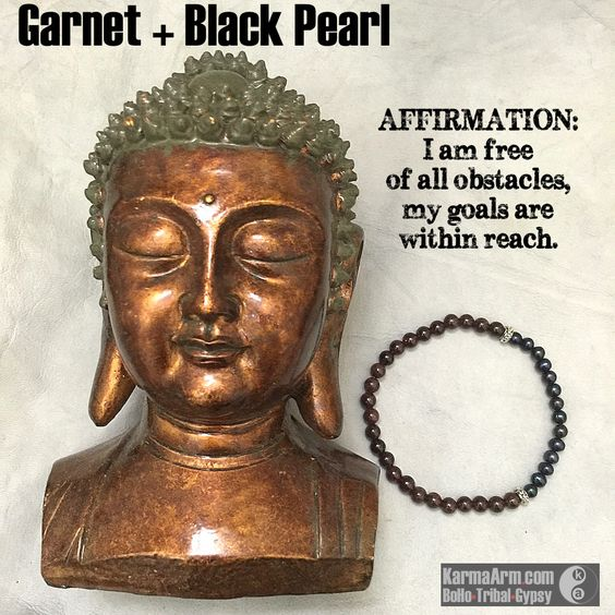 Black Pearls are recommended for those who have a goal to achieve ....no matter what. GOALS: #Garnet + Black #Pearl #yoga #Mala #Bead #Bracelet #mens #bracelets #womens #mens #energy #healing #spiritual #meditation #crystal #crystals #love #style #luck #lucky #artisan #handmade #jewelry #OOAK #fashion #love #blessed #black #design #karma #buddha