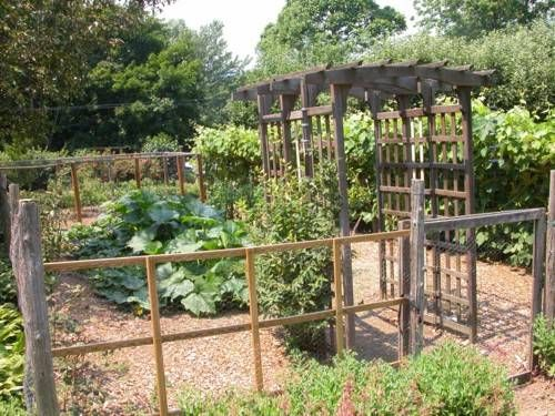 Vegetable gardens fence gardens and garden fences for Country vegetable garden ideas