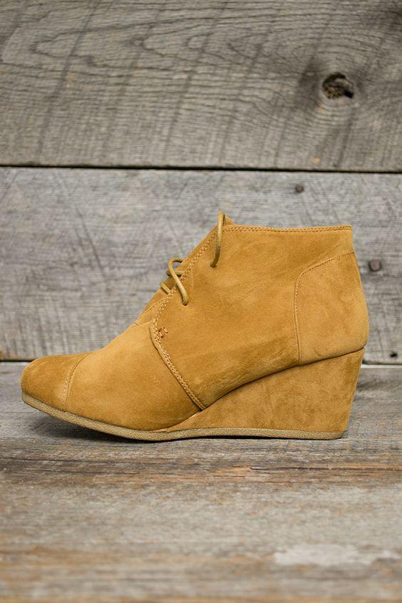 Desert Suede Low Wedge Shoe