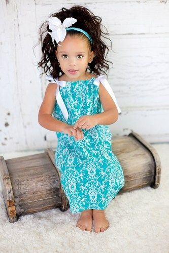 teal summer dresses for girls | teal blue damask pillowcase dress girls dresses baby dresses