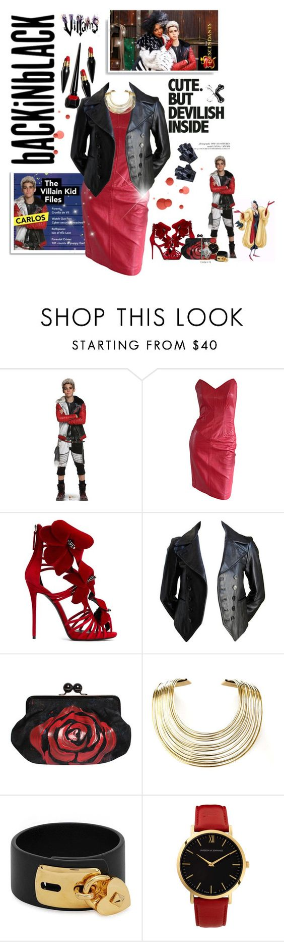 """""""Disney's Descendants #carlos #cruelladeville (#580)"""" by nobility99 ❤ liked on Polyvore featuring Patagonia, Disney, Giuseppe Zanotti, Bisjoux, Valentino and Larsson & Jennings"""