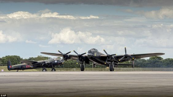 Beautiful sight: The Avro Lancaster is one of the Second World War's most-recognisable Bri...