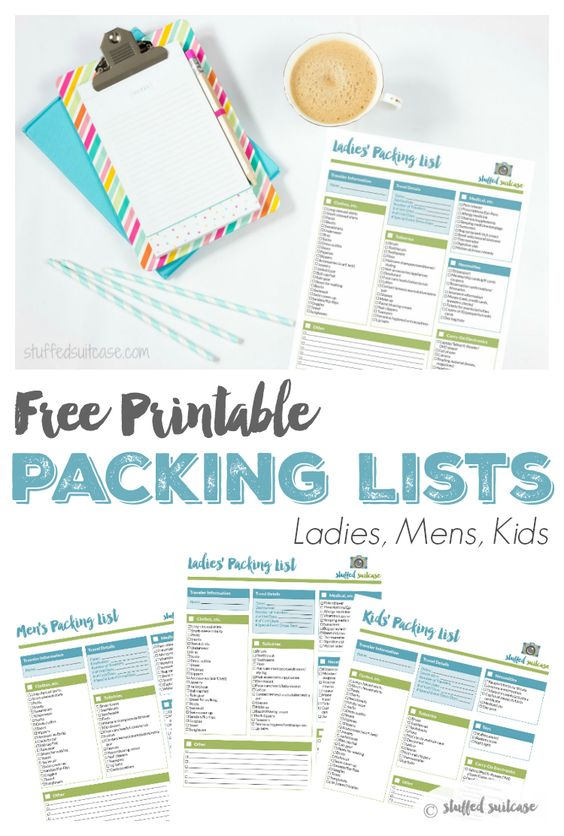 Packing List Template Printable Trips, Free printable and Packing