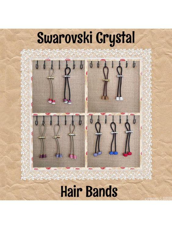 http://www.skincareandbodywork.com/ swarovski crystal hair scrunchie