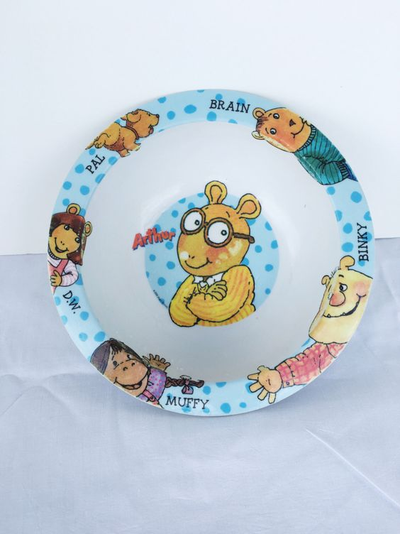Arthur Kids Bowl Muffy Pal Binky DW Brain Lora Dinnerware PBS Educations Television Having Fun Isnt Hard If Youve Got a Library Card by Lexigoesthrifting on Etsy https://www.etsy.com/listing/399254039/arthur-kids-bowl-muffy-pal-binky-dw