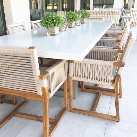 アウトドア ガーデン テーブル 大型 イメージ 常設