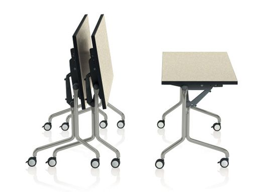 Designed by giancarlo piretti hurry up training tables