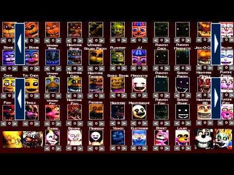 Five Nights At Freddy S 6 All Extras Fnaf 1 2 3 4 5 All